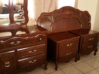 brown wooden dresser with mirror Bell Gardens, 90201