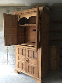 French Country Armoire w/ shelves & TV options.