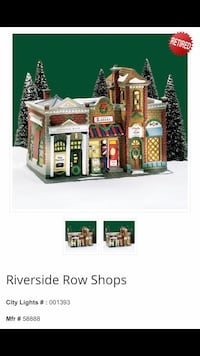 Dept. 56 Riverside Row Shops (Retired) Brentwood, 37027