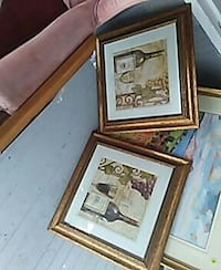 two wine framed prints wooden frames Edenton, 27932