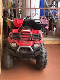 red and black ride-on toy