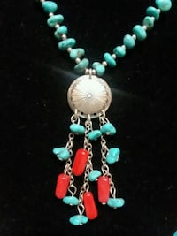 Turquoise and Sterling Silver necklace  13 km