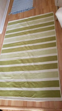 Green and white striped area rug Palm Beach, 33480