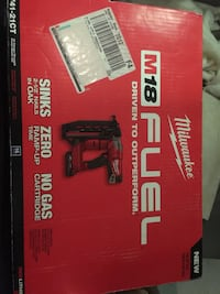 Milwaukee m18  cordless finishing nail gun Brand new in box 16 gauges  Toronto, M3M