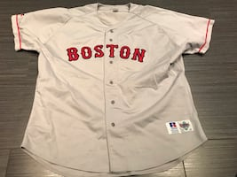 Authentic Russell Boston Red Sox Baseball Jersey