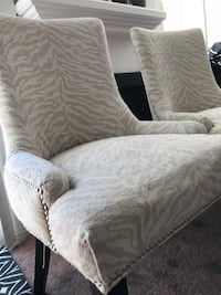 white and gray floral fabric sofa chair Los Angeles, 90046