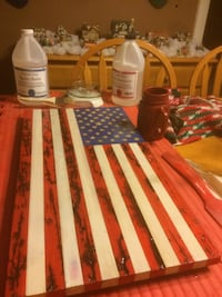 American Flag. (Wood) 2' x 1' Old Town, 04468
