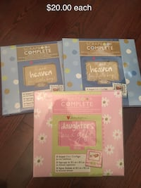 Complete scrapbooks new (two for boys and one for girl) $20.00 each Oakville