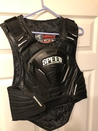 Motorcycle vest with led lights
