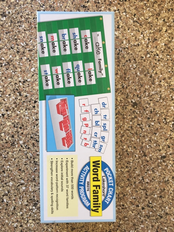 used lakeshore word family pocket chart activity program for sale in