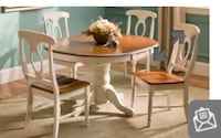 Ivory/tan dining set. 4 chairs included, set is like new, hardly used. Moving & we do not need it! Cranston
