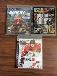 four Sony PS3 game cases