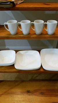 White 16 piece Correlle Dish Set Reston