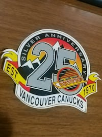 Canucks 25th anniversary sticker 3730 km