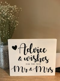 advice and wishes for the new mr and mrs printed board