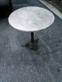 Antique marble and iron table La Plata, 20646
