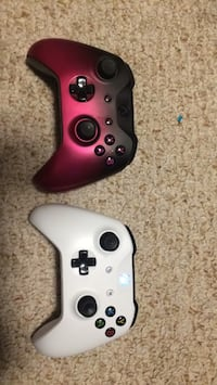 two white and black Xbox One controllers Lacey, 98503