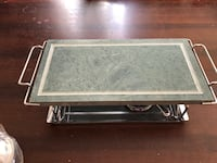 Hot stone cooking grill, uses fondue fuel. Brand new in box.