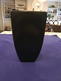 """Black Glass Vase Approximately 9"""" In Height Calgary, T2M 2P2"""