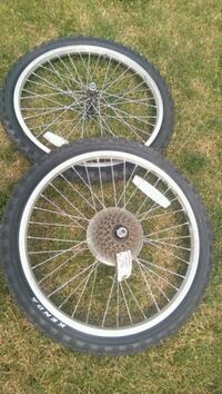 "20"" bike wheels tires and rims ""Just Reduced"". Aurora"