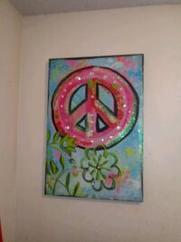pink and blue peace sign pic Abilene, 79603