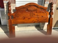 brown wooden bed headboard and footboard Garland, 75044