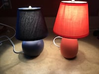 two red and black table lamps Lackawanna, 14218