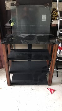 Black and brown wooden tv stand Houston, 77043