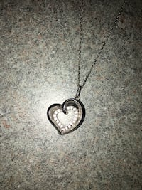 """10K White Gold 16"""" Chain with Heart pendant New Tecumseth, L9R 1C3"""