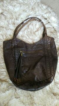 Brown pleather bag Kuna, 83634