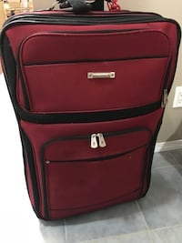 red and black soft travel luggage Abbotsford