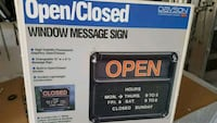 Open close store front sign new Vaughan, L4J 2S9