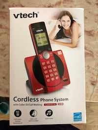 red and black Vtech wireless telephone box Norwood, 02062
