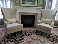 Two beige Accent chairs Brampton, L6S 0C6