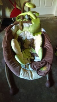 baby's white, brown, and green rocker bouncer Merced, 95348