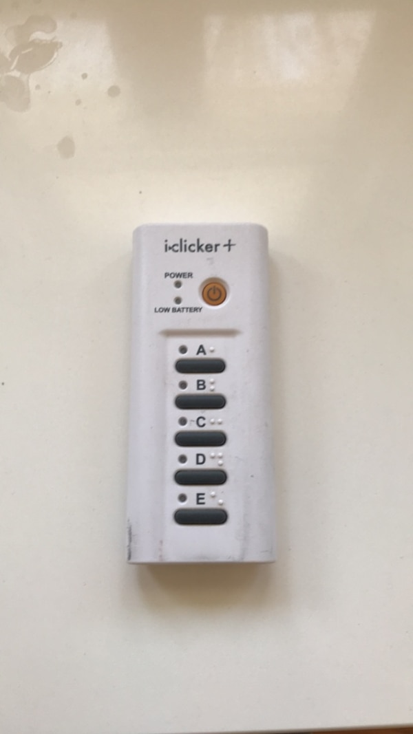 iclicker+ student remote