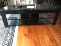 Black framed glass top tv stand Toronto, M8V 3N7