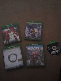 four Xbox One games Kitchener, N2M