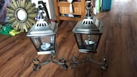 two stainless steel candle lanterns Welland, L3B 4H5
