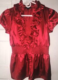Red BCX Short Sleeve Blouse size SM Boston, 02125