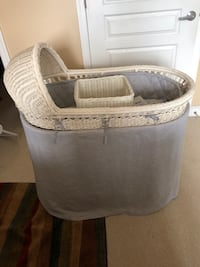 Pottery Barn wicker bassinet and diaper basket Alexandria, 22303