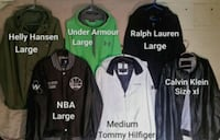 four assorted color zip-up jackets Winnipeg, R2W