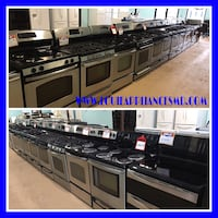 Stainless gas or electric stoves 10% off