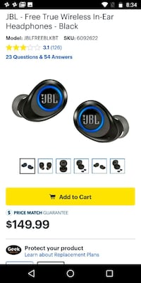 black and blue JBL wireless headphones Lanham, 20706
