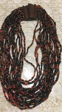 red and black beaded necklace Springfield, 22150