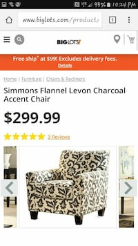 Awe Inspiring Ikinci El Satilik Simmons Flannel Levon Charcoal Accent Chair Screenshot Letgo Download Free Architecture Designs Scobabritishbridgeorg
