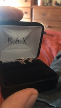 Solid rose gold diamond kay jewelers ring Albuquerque, 87114