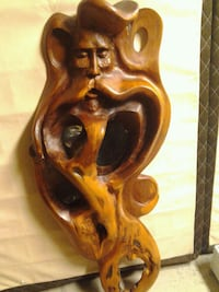 Hand carved wooden wizard Kelowna, V1X 3X2