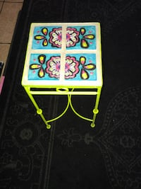 hand painted side table plant stand Tucson
