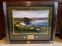Pebble Beach Framed Golf Picture